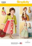 Simplicity Girls Sewing Pattern 1331 Jacket & Dresses