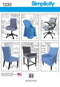 Simplicity Homeware Easy Sewing Pattern 1335 Chair Covers in 6 Styles