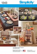 Simplicity Homeware Easy Sewing Pattern 1343 Table Cloths, Runners & Accessories