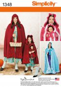 Simplicity Ladies & Girls Sewing Pattern 1348 Red Riding Hood Cape Costumes