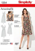 Simplicity Ladies Sewing Pattern 1354 Amazing Fit Dresses in 3 Variations