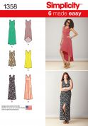 Simplicity Ladies Easy Sewing Pattern 1358 Summer Beach Dresses