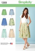 Simplicity Ladies Easy Sewing Pattern 1369 Gathered Skirts