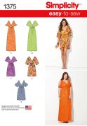 Simplicity Ladies Easy Sewing Pattern 1375 Summer Beach Dresses