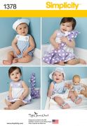 Simplicity Baby Easy Sewing Pattern 1378 Clothes, Toys & Doll Clothes
