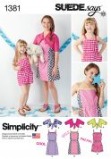 Simplicity Girls Easy Sewing Pattern 1381 Dresses, Jumpsuits & Boleros