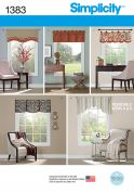 Simplicity Homeware Sewing Pattern 1383 Curtain Treatments
