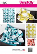 Simplicity Homeware Sewing Pattern 1390 Quilts, Blankets & Cushions