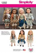 Simplicity Easy Sewing Pattern 1392 Doll Clothes Historical Clothing