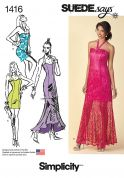Simplicity Ladies Sewing Pattern 1416 Sweetheart Neckline Dresses