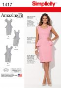 Simplicity Ladies Sewing Pattern 1417 Peplum Dresses