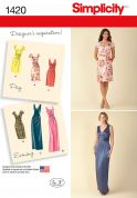 Simplicity Ladies Sewing Pattern 1420 Day & Evening Dresses