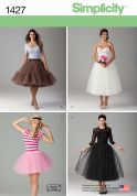 Simplicity Ladies Sewing Pattern 1427 Tulle Skirts in 3 Lengths