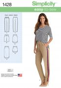 Simplicity Ladies Easy Sewing Pattern 1428 Trouser Pants, Shorts & Skirts