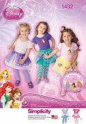 Simplicity Childrens Sewing Pattern 1432 Disney Princess Tutu's