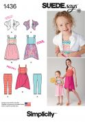 Simplicity Childrens Sewing Pattern 1436 Dresses, Bolero & Leggings