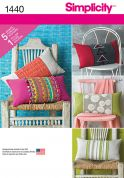 Simplicity Homeware Easy Sewing Pattern 1440 Pillow & Cushion Covers & Wraps