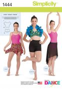 Simplicity Ladies Sewing Pattern 1444 Leotards & Dancewear