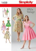 Simplicity Ladies Sewing Pattern 1459 Vintage Style 1950s Dresses