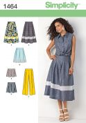 Simplicity Ladies Sewing Pattern 1464 Skirts, Shorts & Trouser Pants