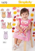 Simplicity Baby & Toddlers Easy Sewing Pattern 1470 Rompers, Dresses & Hats