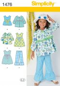 Simplicity Childrens Sewing Pattern 1476 Jackets, Tops, Dresses & Pants