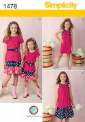 Simplicity Childrens Sewing Pattern 1478 Tiered Skirts, Tops & Dresses