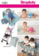 Simplicity Baby Easy Sewing Pattern 1481 Nappy Covers, Blanket, Pram Covers & Accessories