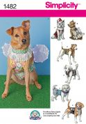 Simplicity Pets Sewing Pattern 1482 Fancy Dress Dog Coats & Clothes
