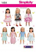 Simplicity Crafts Sewing Pattern 1484 Doll Clothes Summer Wardrobe