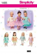 Simplicity Crafts Sewing Pattern 1485 Doll Clothes & Tutu's