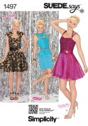 Simplicity Ladies Sewing Pattern 1497 Party Dresses