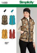 Simplicity Ladies Sewing Pattern 1499 Waistcoat Gilets & Headband