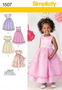 Simplicity Childrens Sewing Pattern 1507 Special Occasion Dresses