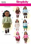 Simplicity Crafts Sewing Pattern 1515 Casual Doll Clothes