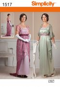 Simplicity Ladies Sewing Pattern 1517 Edwardian Style Dresses