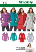 Simplicity Ladies Sewing Pattern 1540 Fitted Jackets & Coats