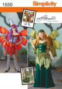 Simplicity Ladies Sewing Pattern 1550 Fairy Fancy Dress Costumes with Wings