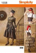 Simplicity Ladies Sewing Pattern 1558 Steampunk Fancy Dress Costume