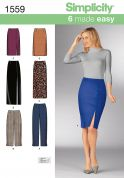 Simplicity Ladies Easy Sewing Pattern 1559 Slim Skirts & Trouser Pants