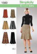 Simplicity Ladies Easy Sewing Pattern 1560 Trumpet & Flare Style Skirts