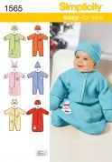 Simplicity Baby Easy Sewing Pattern 1565 Sleeping Bags, Rompers & Hats