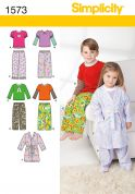 Simplicity Childrens Sewing Pattern 1573 Pyjamas & Dressing Gown
