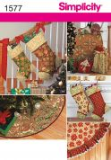 Simplicity Crafts Easy Sewing Pattern 1577 Christmas Stockings & Decorations