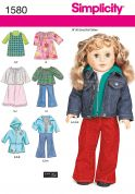 Simplicity Crafts Sewing Pattern 1580 Doll Clothes