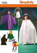 Simplicity Childrens Sewing Pattern 1583 Capes, Tabards & Hats Fancy Dress Costumes