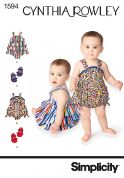 Simplicity Baby & Toddlers Sewing Pattern 1594 Rompers & Shoes