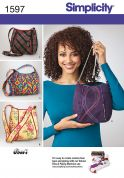 Simplicity Accessories Sewing Pattern 1597 Bags with Contrast Lining, Trim & Piping