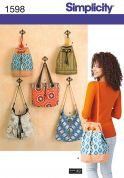 Simplicity Accessories Sewing Pattern 1598 Bags in 5 Styles