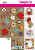 Simplicity Easy Crafts Sewing Pattern 1601 Fabric Flowers
